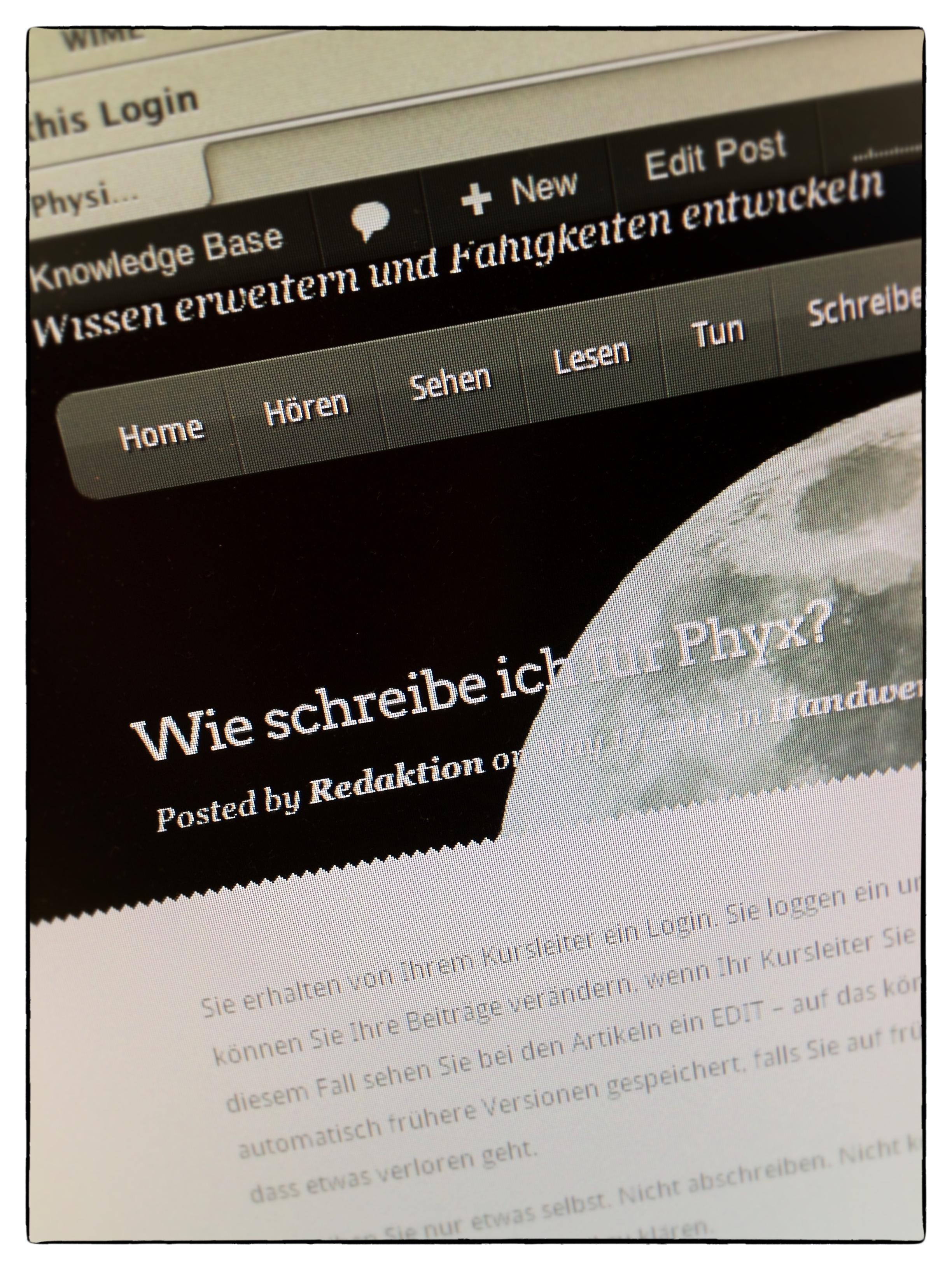 Wie schreibe ich für Phyx?
