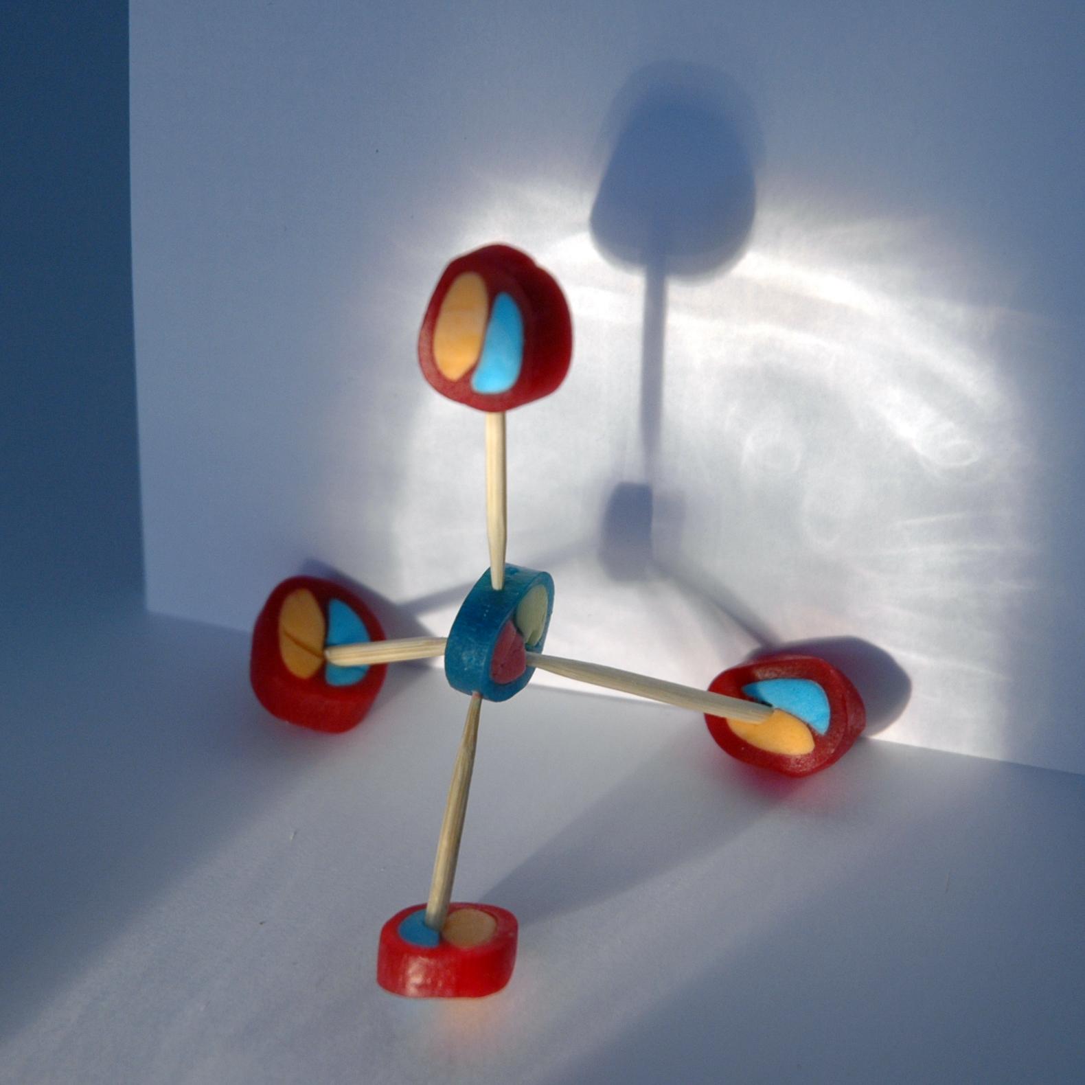 Molekülmodelle mit Sauren Drops