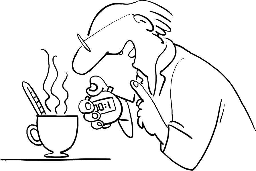Illustration: Messen wie der Tee kühlt